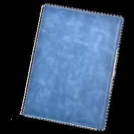 Ledereinband für  DIN A4 in Denimblau