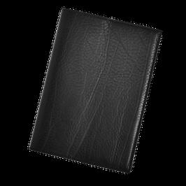 Ledereinband Schwarz für A5, naturbelassen