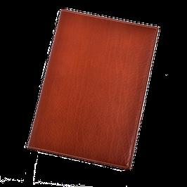 Ledereinband für A5 in klassischem Braun