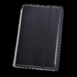 Lederhülle aus schwarzem Naturleder für Moleskine® Pocket
