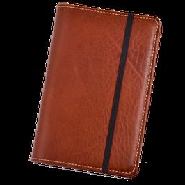 Lederhülle für Moleskine® Pocket in klassischem Braun