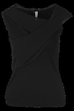 Shirt Löwenzahn, Chiffon-schwarz