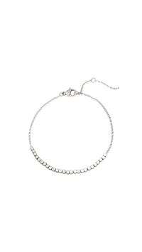 Bracelet zilver line of Dots