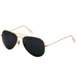 Trendy gouden pilot bril met donkere glazen