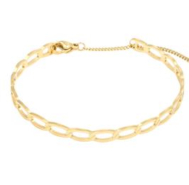 YG-02003 Armbandje goudkleurig trendy schakelarmband chained