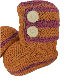 Baby Alpaka Boots - orange