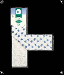Spucktuch mit Sternchenaufdruck - blau