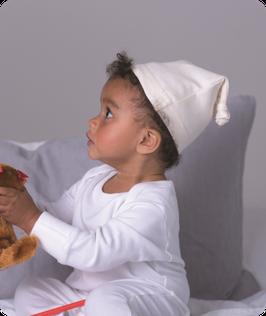 Baby Mütze mit Knoten