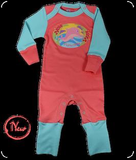 Strampler rosa Delfin
