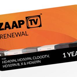 12 Monate ZaapTV ™  Arabische Paket Verlängerungskarte