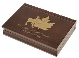 Canadian Wildlife Münzbox für 6 x 1 Oz Silbermünzen