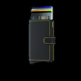 Secrid Miniwallet - Matte Black-Yellow