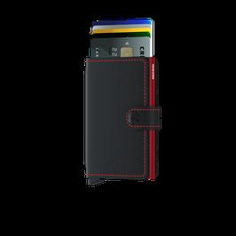 Secrid Miniwallet - Matte Black-Red