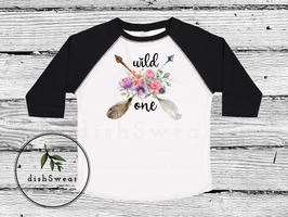 Boho Birthday Arrow Toddler Raglan