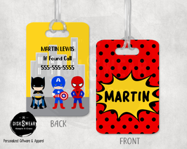 Superhero-Boy (RED) Backpack/Luggage ID Tag