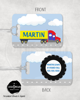 Transport Truck Backpack/Luggage ID Tag