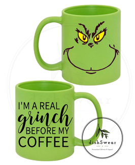 11oz. Grinch Full Colour Frosted Ceramic Mug