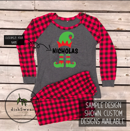 Elf-Personalized Family Christmas Pajamas **PRE-ORDER PURCHASE**
