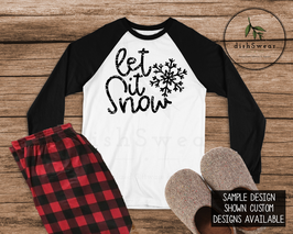 Let it Snow-Personalized Family Christmas Pajamas **PRE-ORDER PURCHASE**