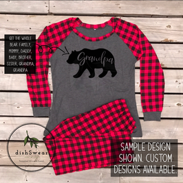 Bear Family-Personalized Family Christmas Pajamas **PRE-ORDER PURCHASE**