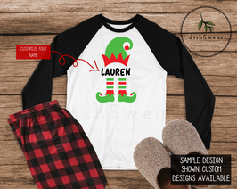 ElfBW-Personalized Family Christmas Pajamas **PRE-ORDER PURCHASE**