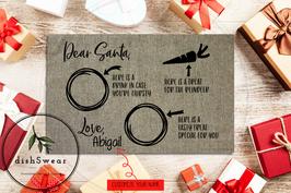 Personalized 12x18 Santa Cookies & Milk Placemat