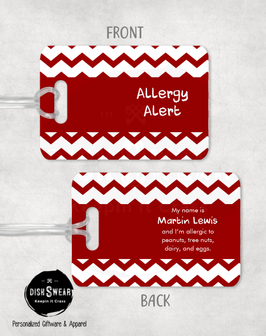 Allergy Alert (Red) Backpack/Luggage Tag