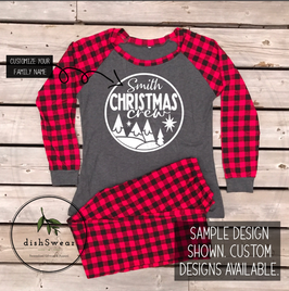 Christmas Crew-Personalized Family Christmas Pajamas **PRE-ORDER PURCHASE**