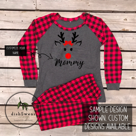 Reindeer Girl-Personalized Family Christmas Pajamas **PRE-ORDER PURCHASE**