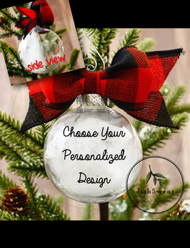 "4"" Round Personalized Ornaments"