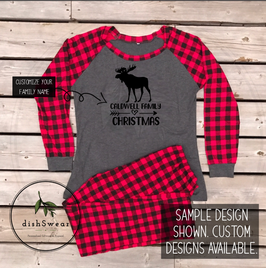 Moose-Personalized Family Christmas Pajamas **PRE-ORDER PURCHASE**