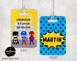 Superhero-Boy (BLUE) Backpack/Luggage ID Tag