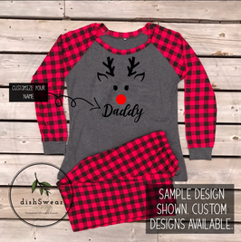 Reindeer Boy-Personalized Family Christmas Pajamas **PRE-ORDER PURCHASE**
