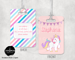 Unicorn Backpack/Luggage ID Tag