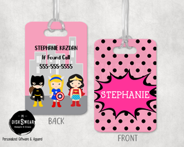 Superhero-Girl Backpack/Luggage ID Tag