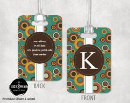 Retro Monogram Backpack/Luggage ID Tag