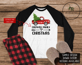 Christmas Truck Colour-Personalized Family Christmas Pajamas **PRE-ORDER PURCHASE**