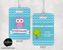 Owl Backpack/Luggage ID Tag