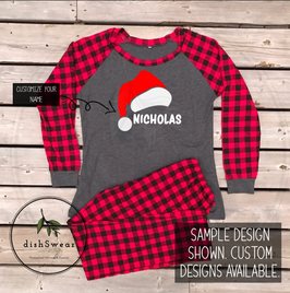 Santa Hat-Personalized Family Christmas Pajamas **PRE-ORDER PURCHASE**
