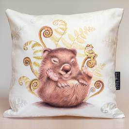 Fern Wombat Asleep Cushion
