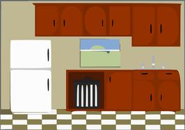Küchenbereich/ Cocina