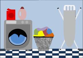 Hauswirtschaftbereich/ Productos y máquinas para la limpieza