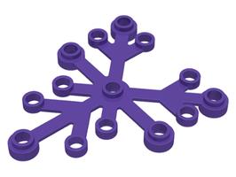 5x Boomblad 6x5 donker paars