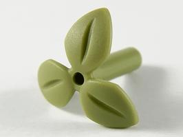 5x blad met steel olijf groen