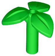 5x  blad met steel helder groen