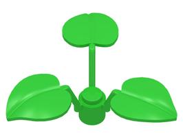5x Moeras    plant 3 bladeren helder groen