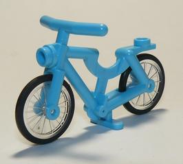 Azur blauwe fiets