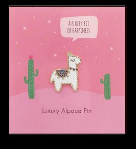 Süßer Alpaka-Ansteck-Pin