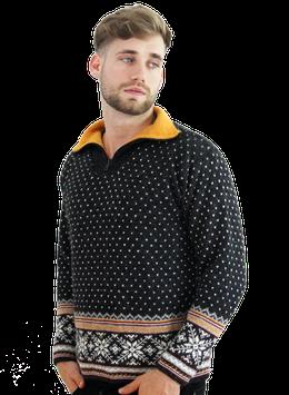 Kaprun Pullover grau mit Muster