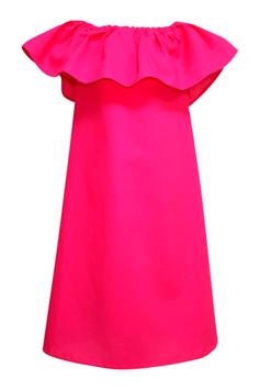 Anklang Rüschenkleid mit Carmenausschnitt für die Tochter